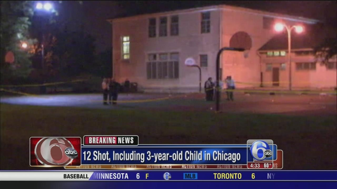 12 Shot, including 3-year-old in Chicago