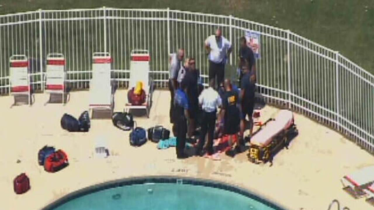 It happened in the 3900 block of Wake Forest Rd. just before noon at the Montecito West apartment complex.