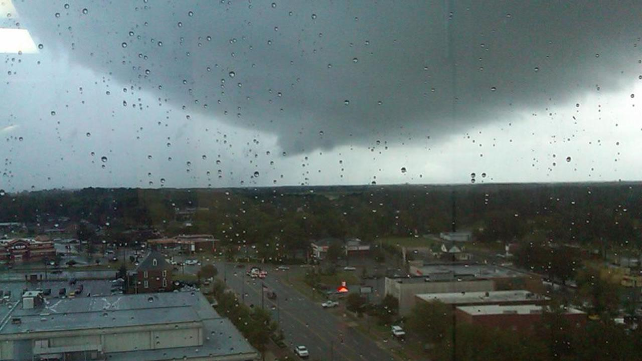 A threatening cloud over Fayetteville Tuesday.