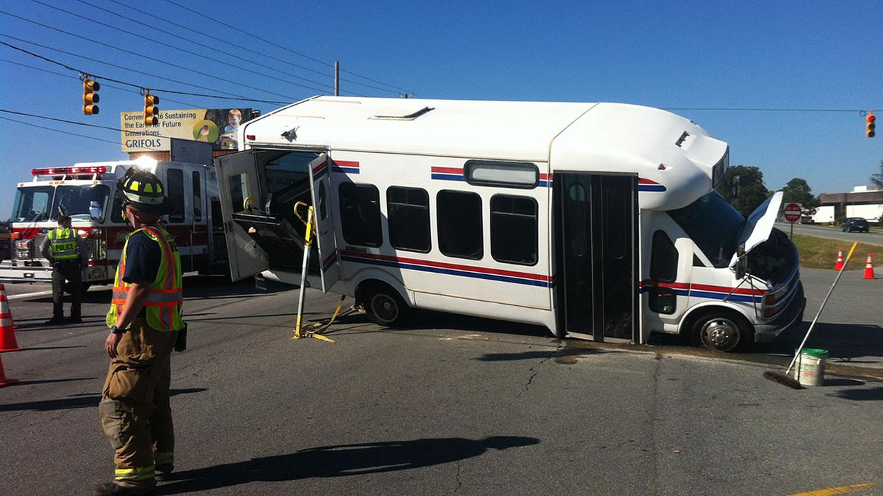 Shuttle bus accident in Clayton