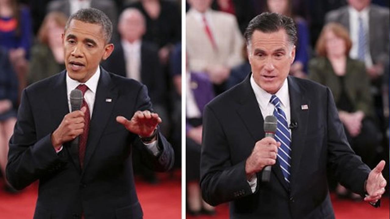 President Barack Obama and Mitt Romney debate