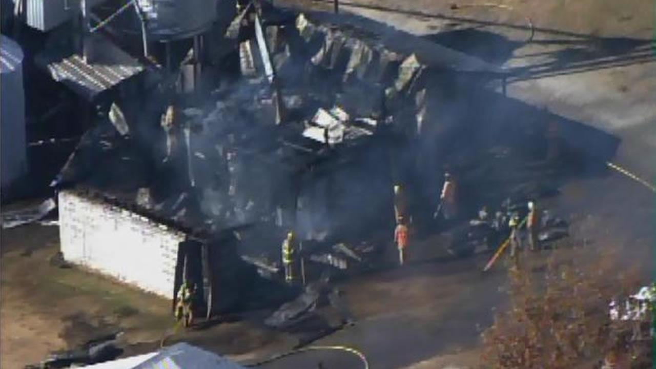 Large fire in Edgecombe County