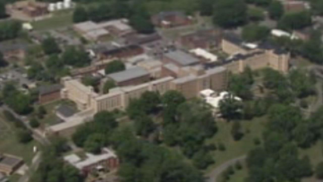 The Dorothea Dix campus from the air.