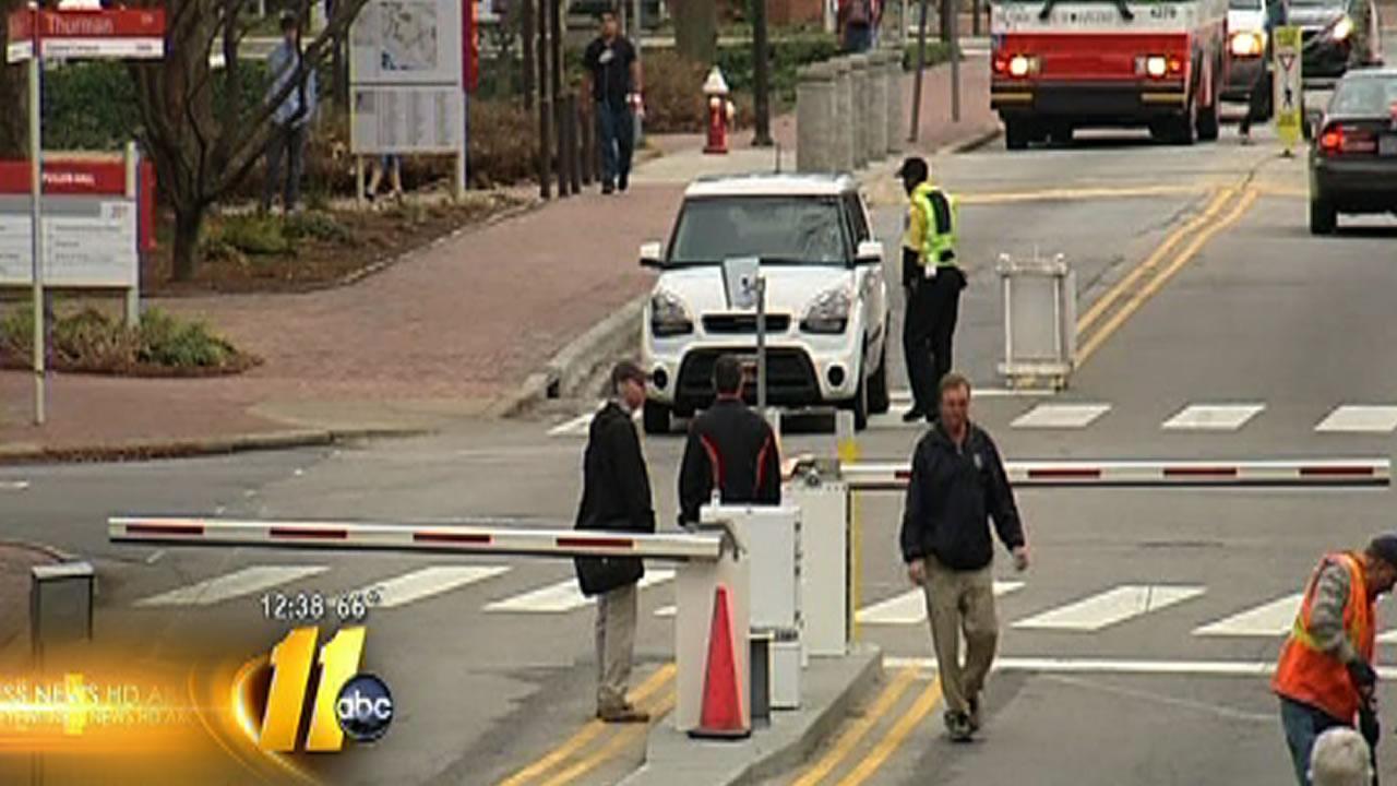 New gates on Dan Allen Drive