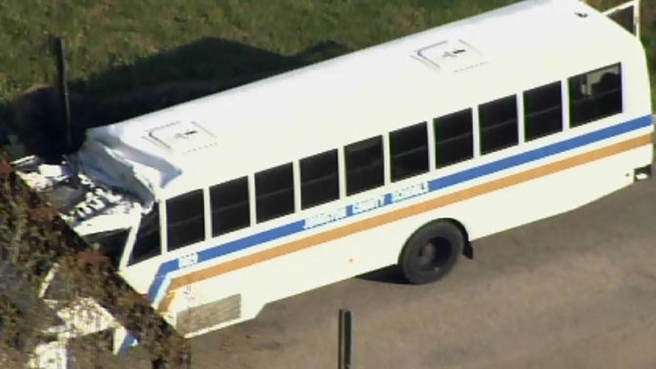 School activity bus hits railroad bridge in Nash County