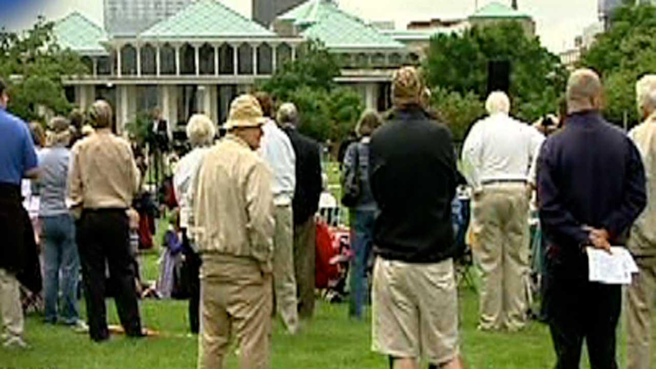 Dozens gather for National Day of Prayer