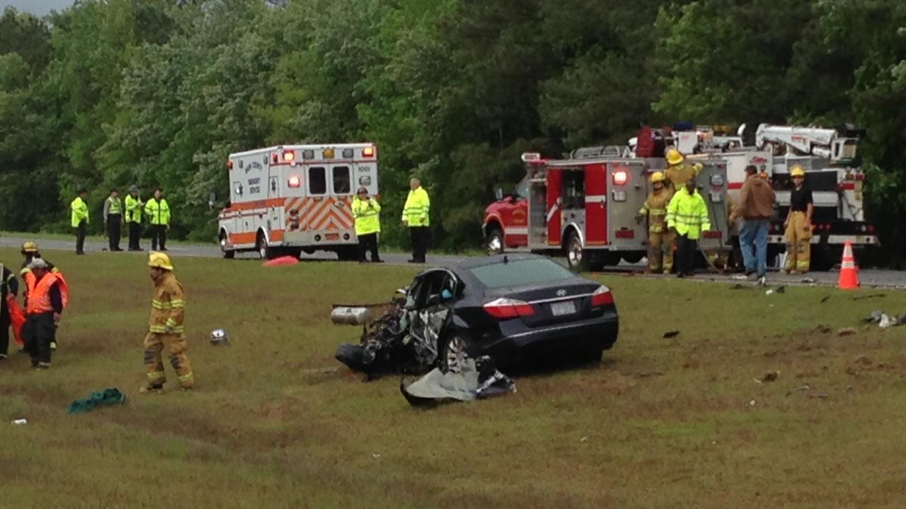 A crash along Highway 264 in Nash County.