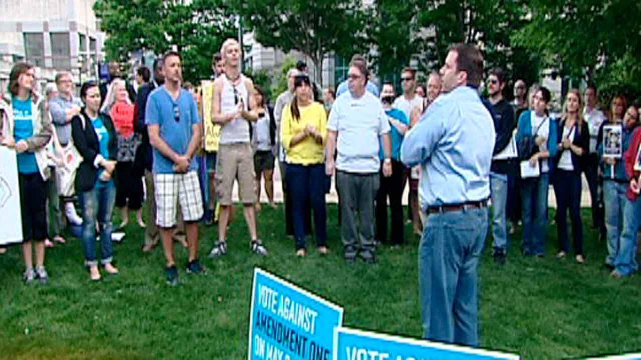 Amendment One opponents rally at Legislature