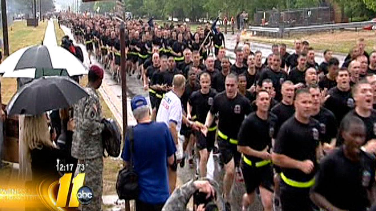 More than 19,000 82nd Airborne Division paratroopers remembered and honored veterans in a 4-mile run in Fort Bragg early Monday morning as a part of All American Week.