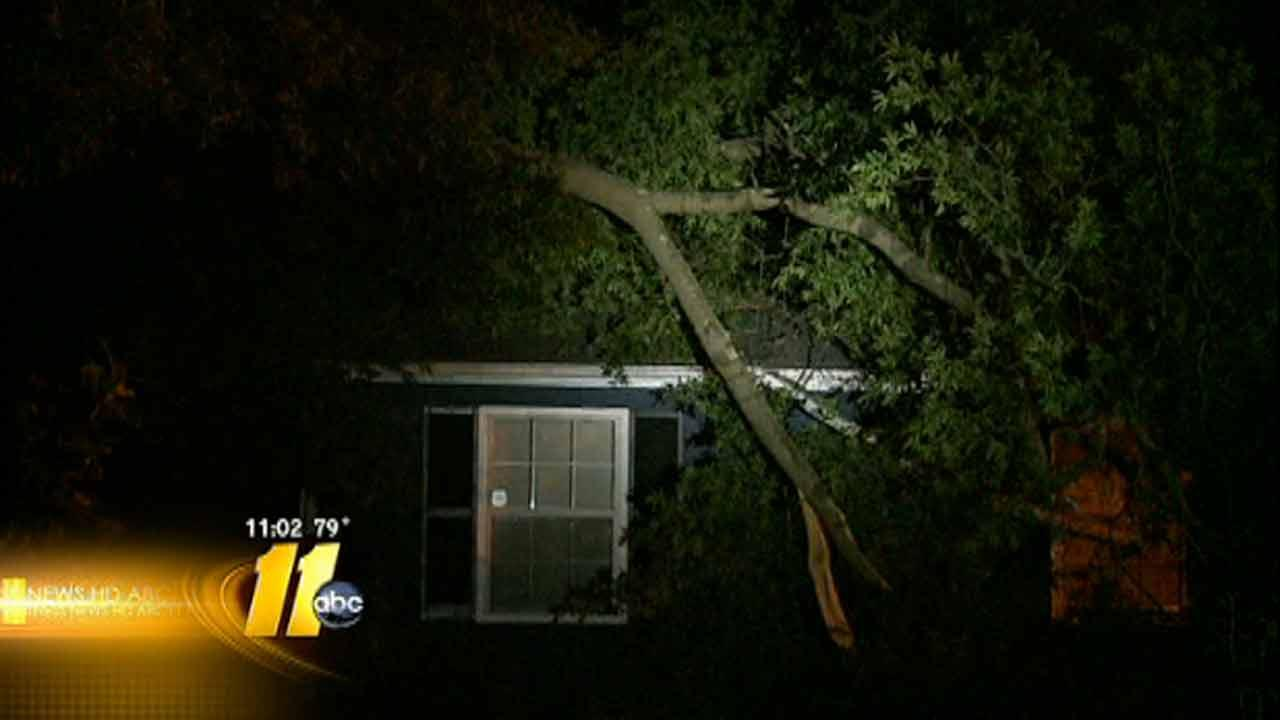 Tree crashes into Durham home