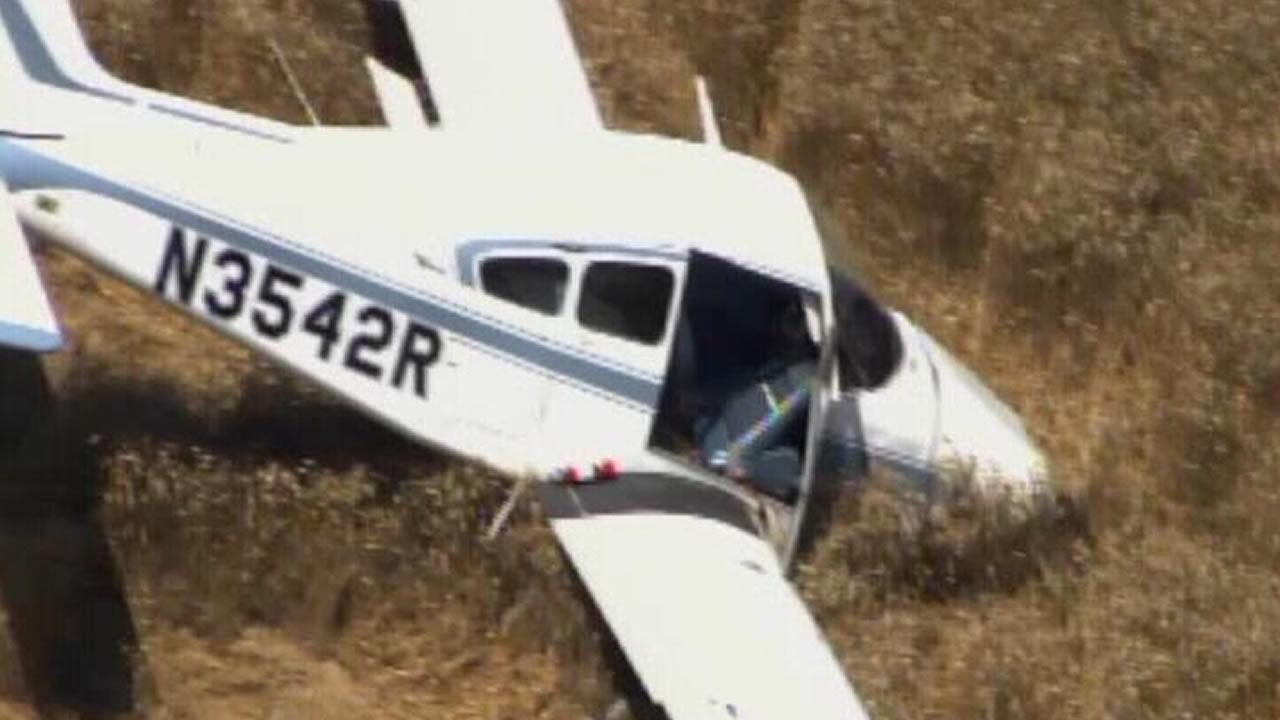 A small plane went down in a field in Granville County Thursday morning.