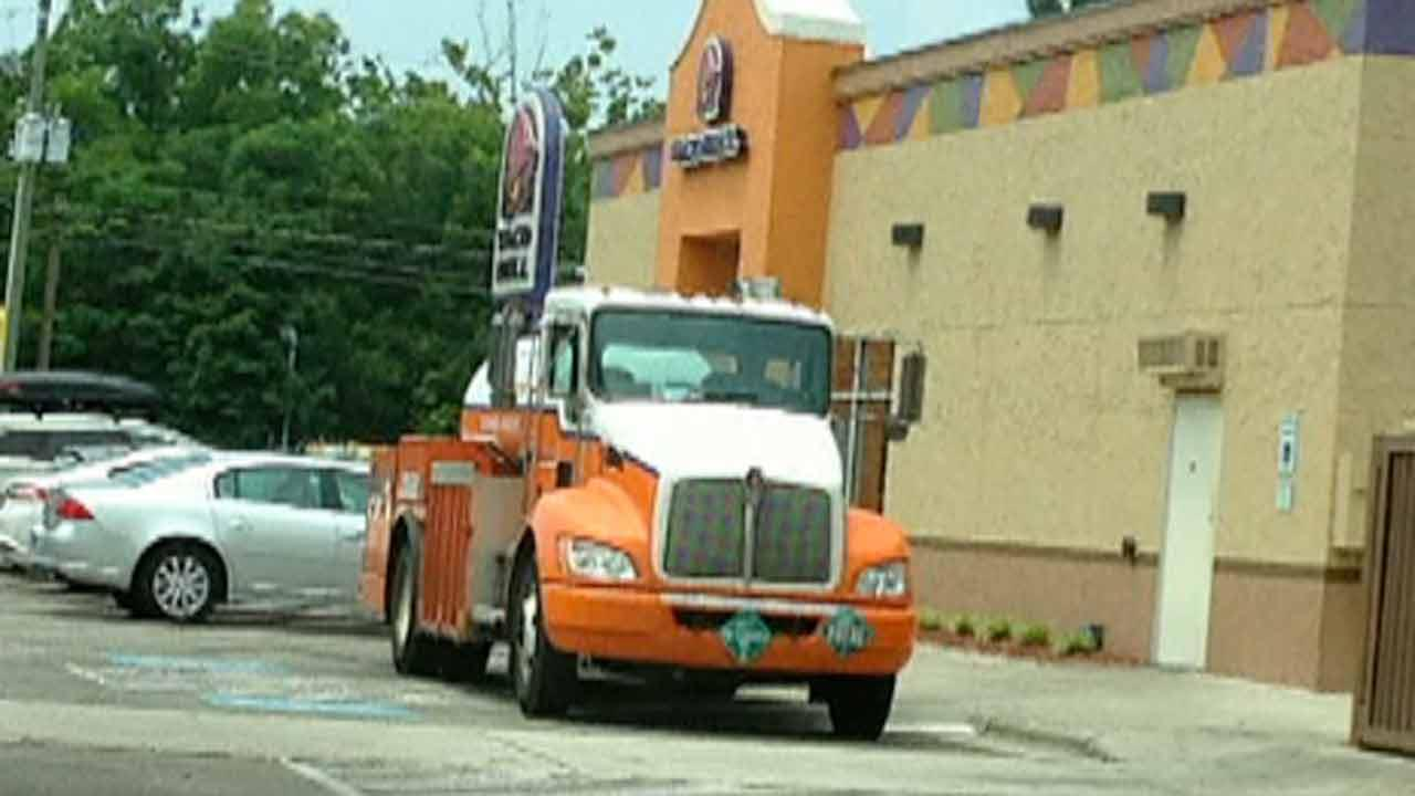 Can delivery trucks block handicapped parking spaces?