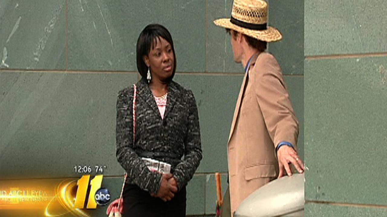 Crystal Mangum speaks with Durham attorney Scott Holmes.