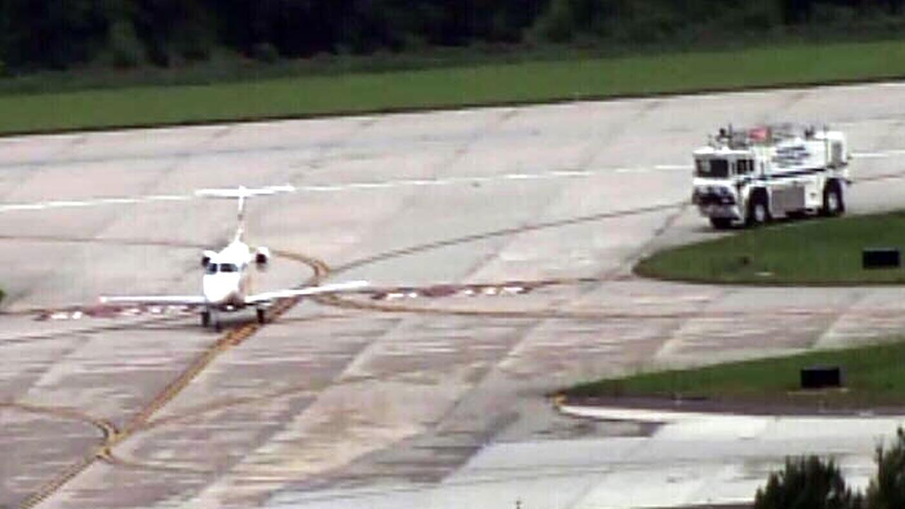 A small private jet was forced to make an emergency landing at Raleigh-Durham International Airport