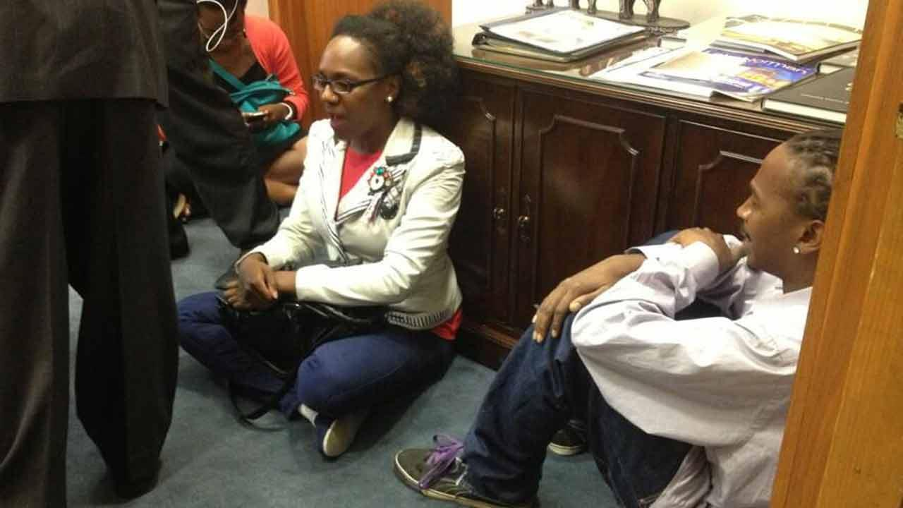 Sit-in follows tentative approval of voter ID law