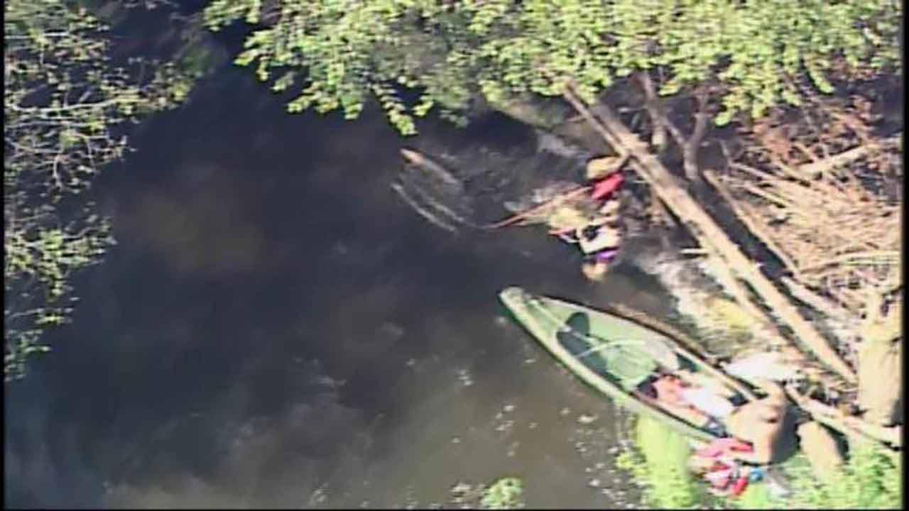 Kayakers rescued from Durham County river