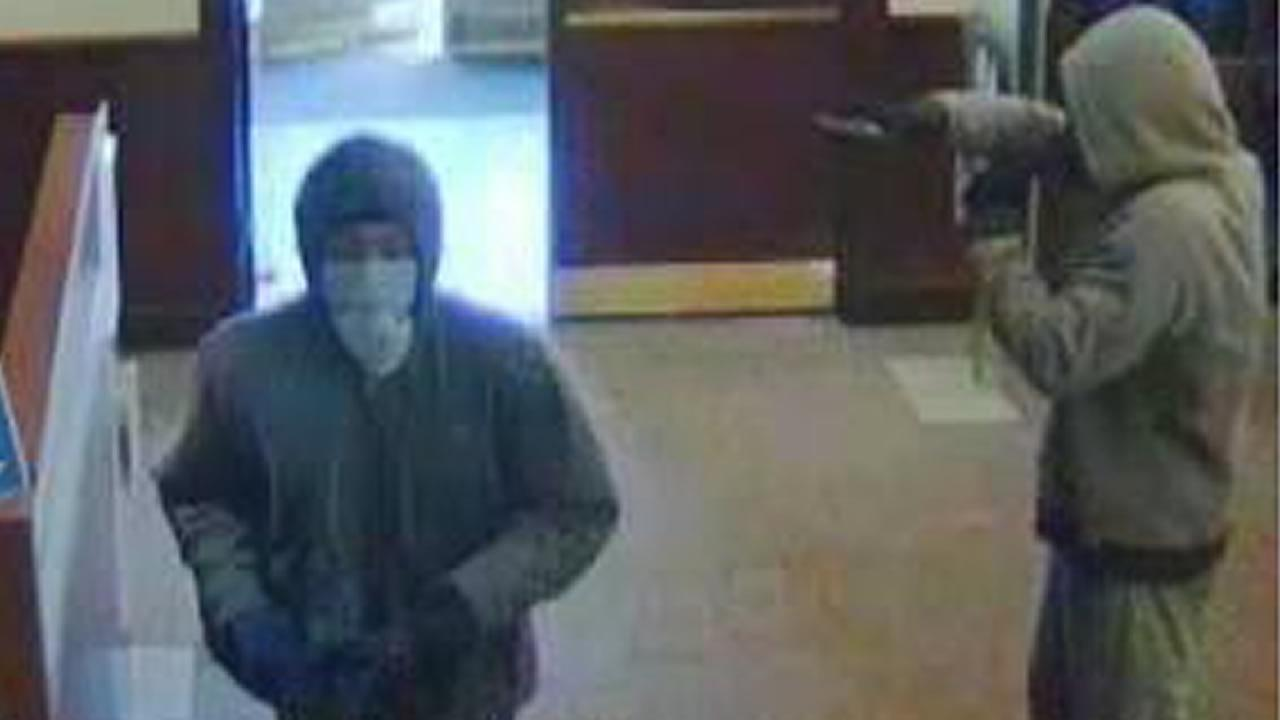 A surveillance photo from a robbery at a Wells Fargo Bank in Sanford.