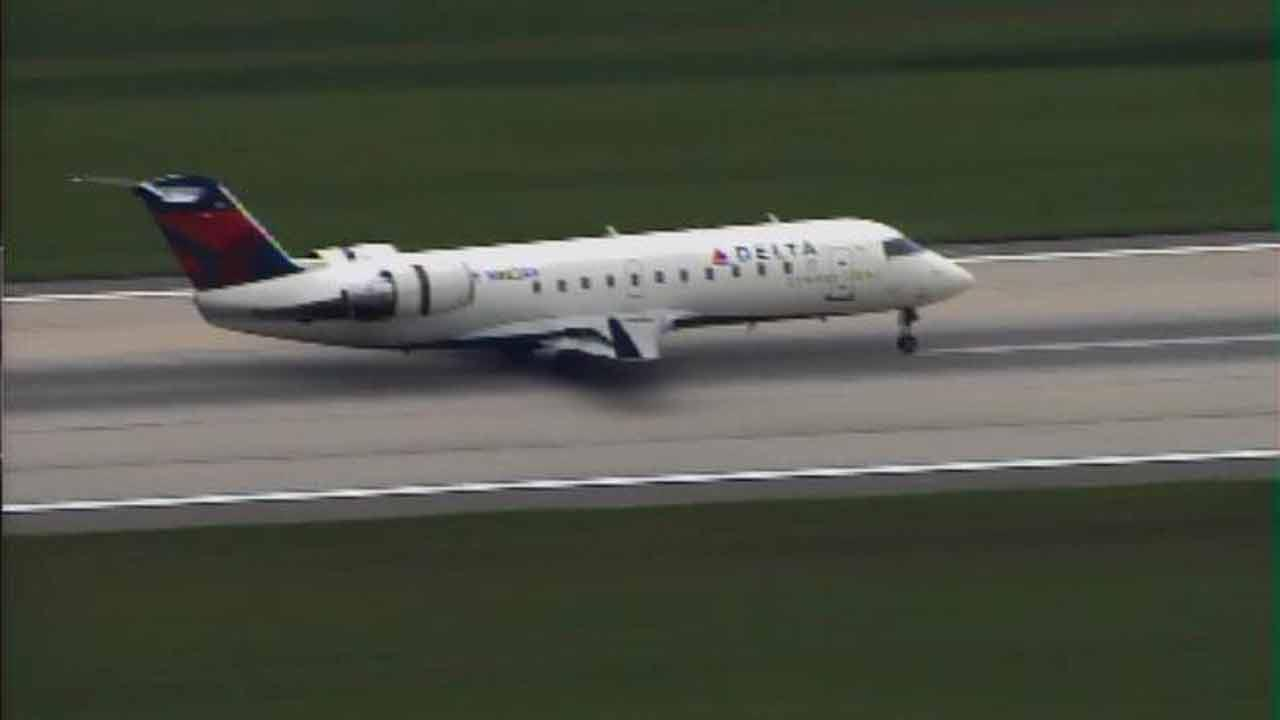 A Delta Express jet landed safely at RDU Friday afternoon.