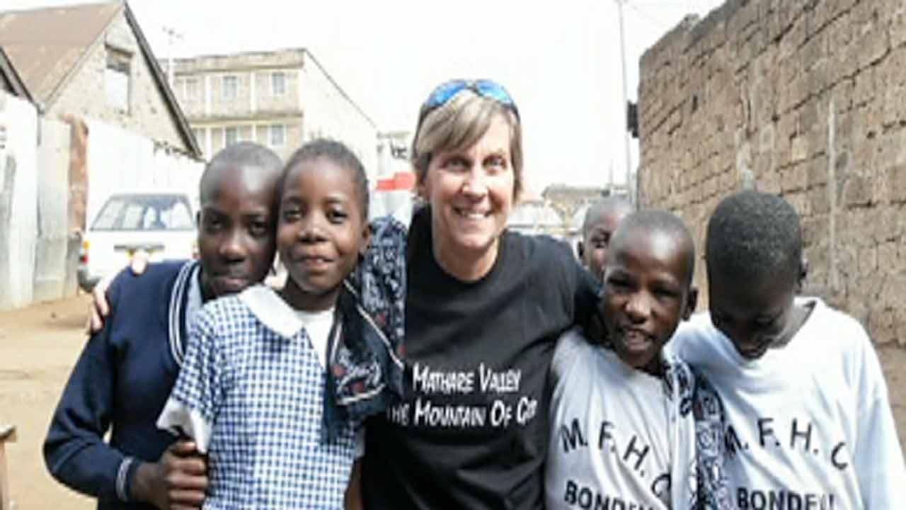 Lisa Orr on church mission trip in Africa.
