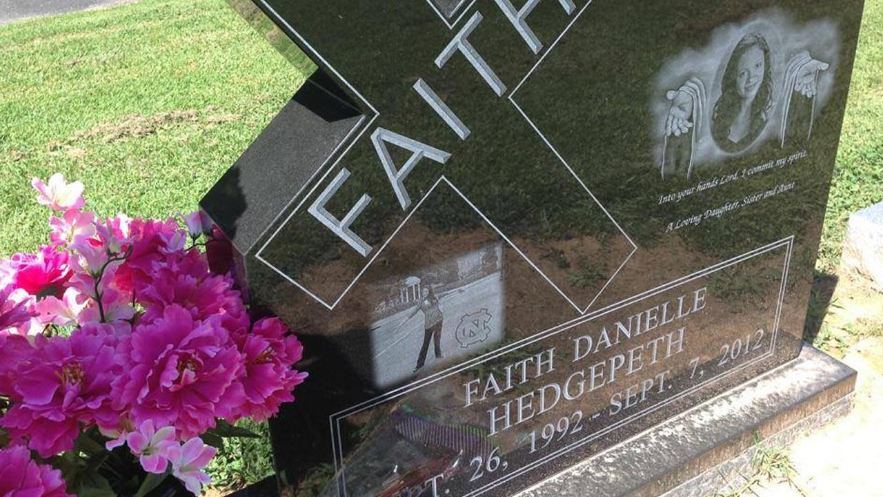 Faith Hedgepeths gravestone.
