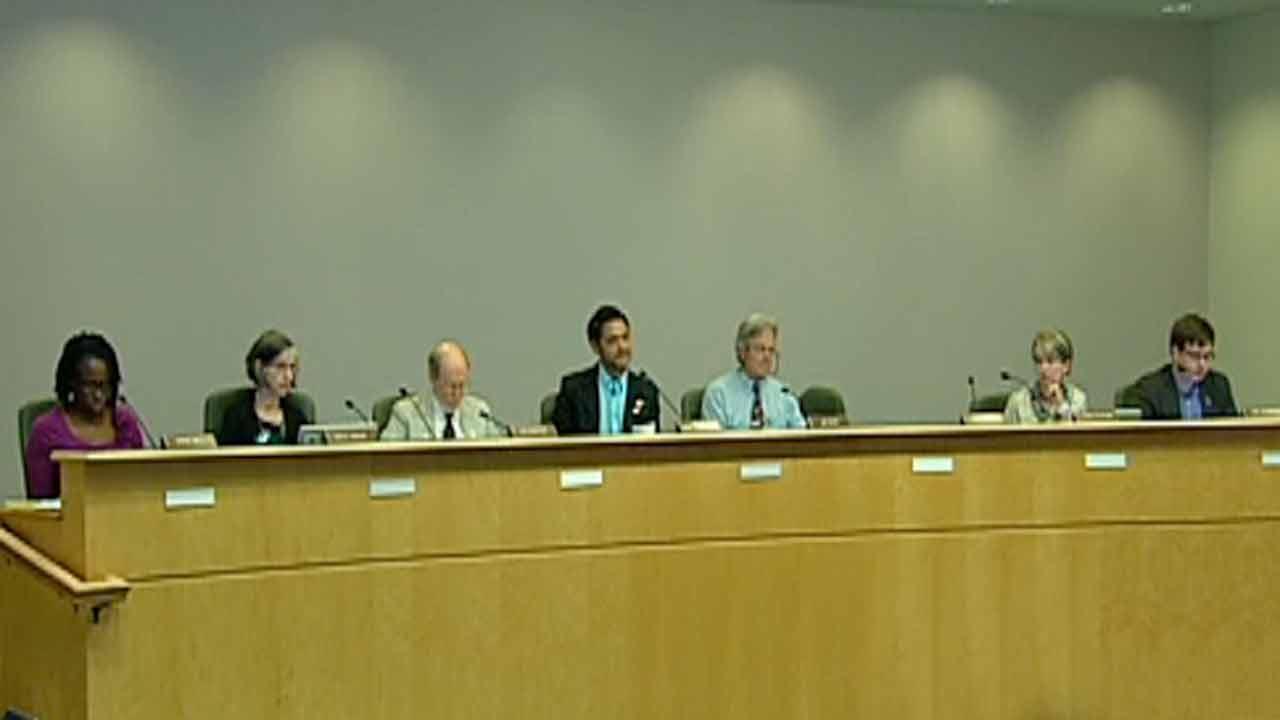 A Chapel Hill council meeting.