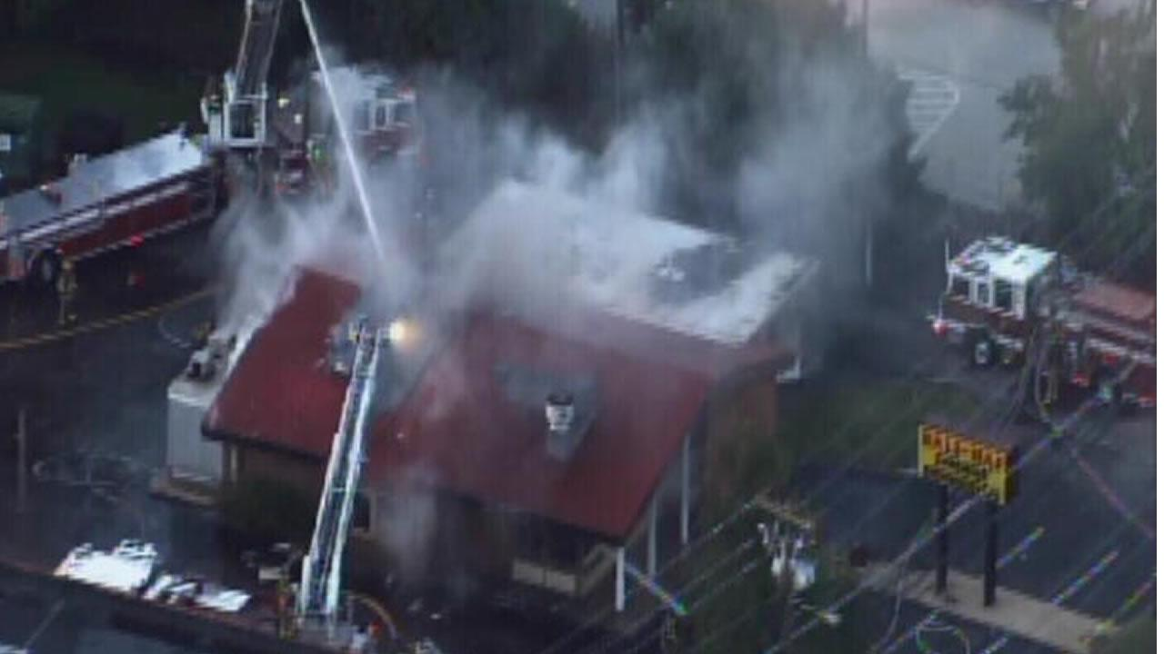 Restaurant fire on Wake Forest Rd. in Raleigh