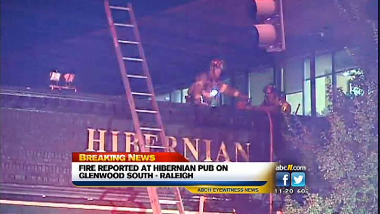 A small fire was reported on the roof of the Hibernian restaurant Thursday evening.