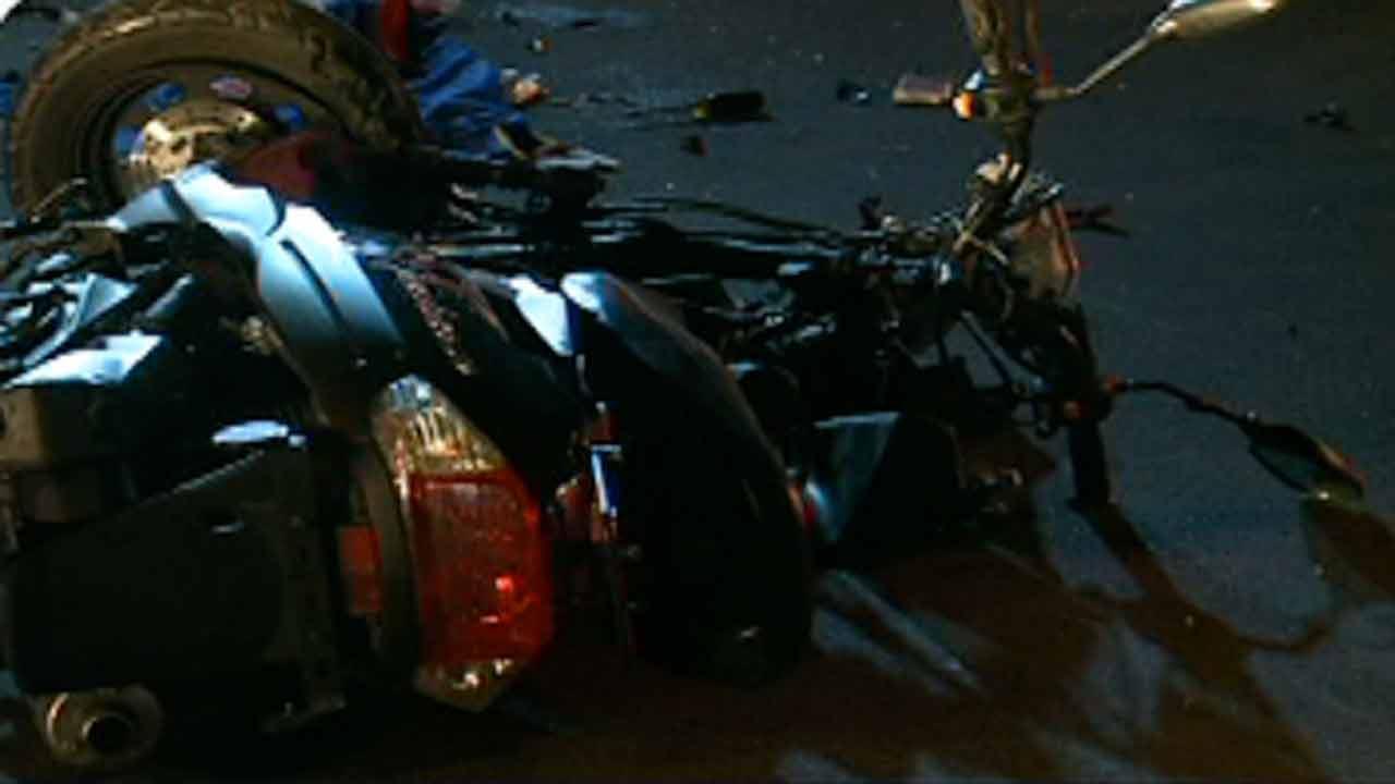 Scooter crash on Durham Freeway