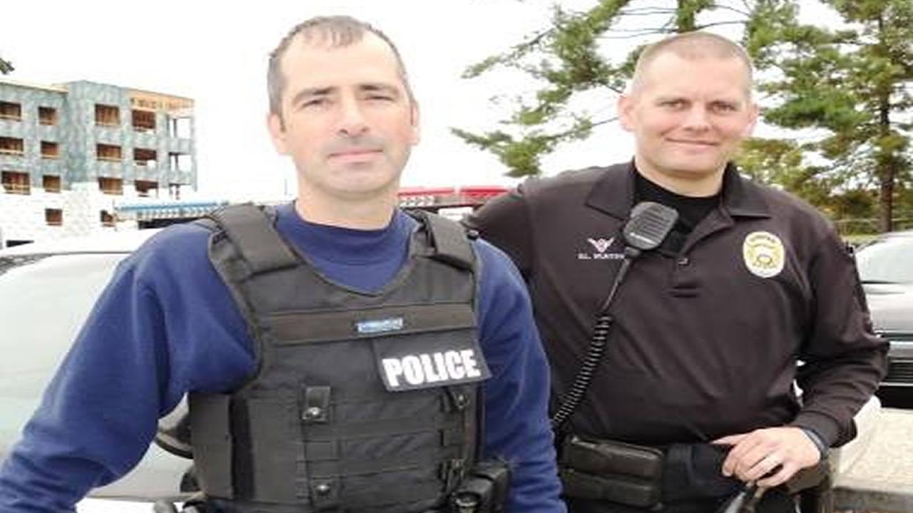 Durham Officers Gabriel Munter and J.J. McDonough