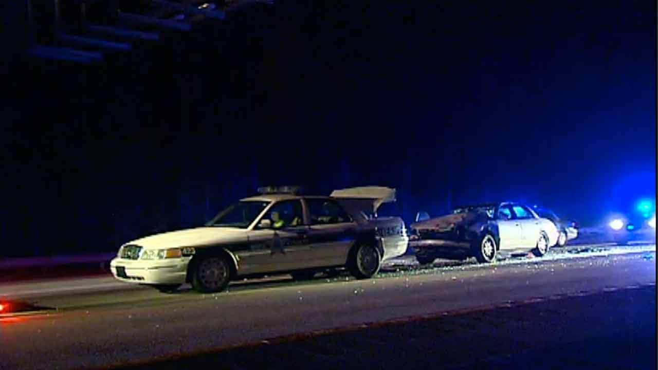 Wake County Sheriff cruiser crash