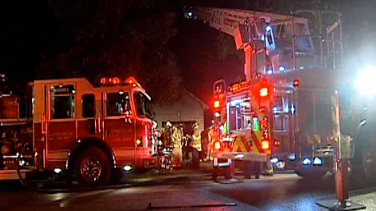 A house caught fire on Candlewood Drive in Fayetteville.