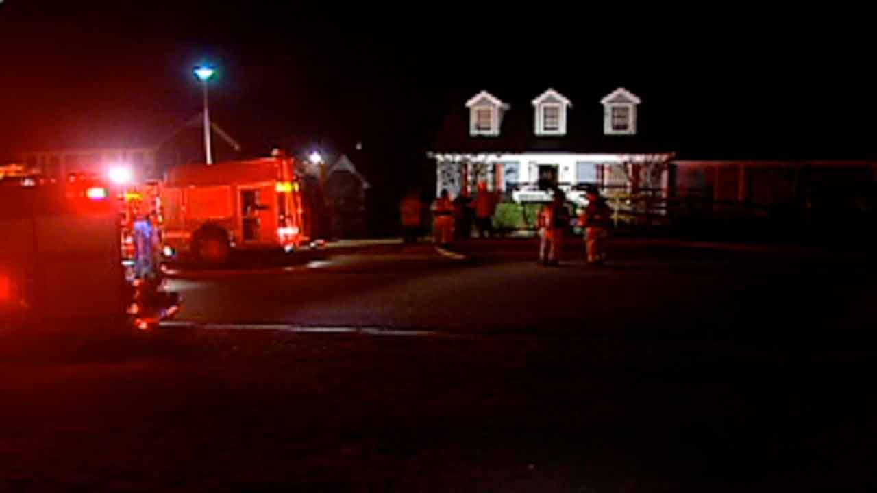 A fire on Ashfield Drive in the Hillendale subdivision in Fayetteville.
