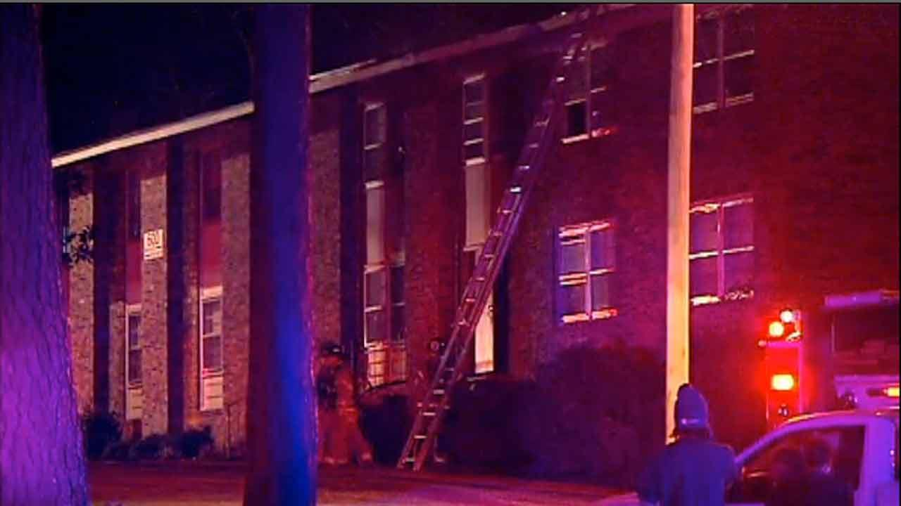 Apartment fire at 2109 Elvira Street in Fayetteville