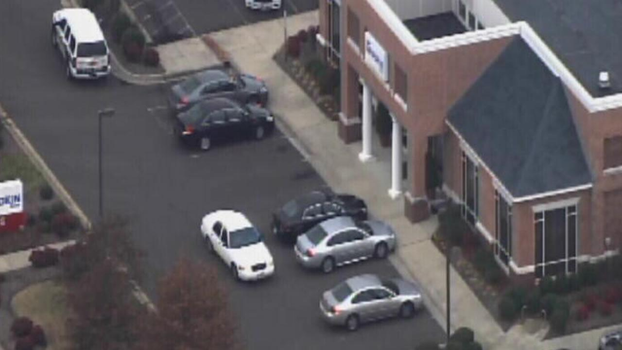 A robbery was reported at a Yadkin Bank branch on East Carver Street.