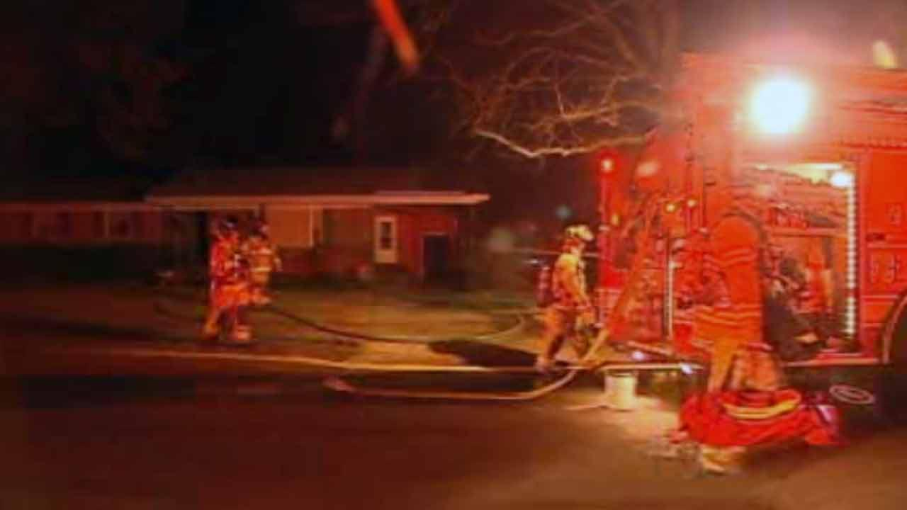 Firefighters battled a house fire on Camelot Drive in Fayetteville.