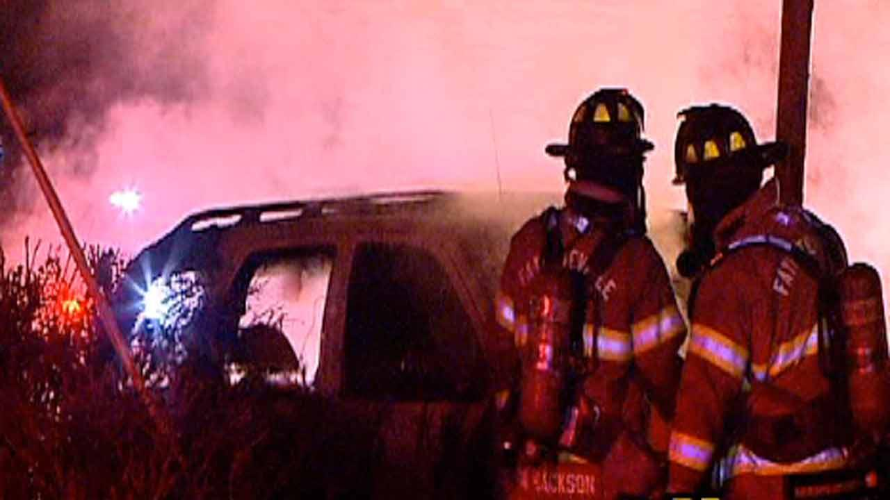 Fayetteville car crash on Ramsey Street.