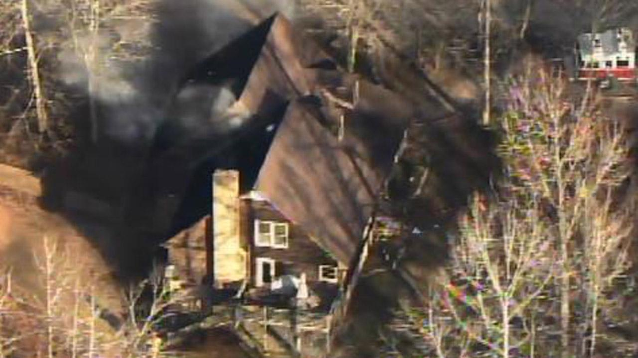 A house fire on Bear Hollow Road in northern Wake County.
