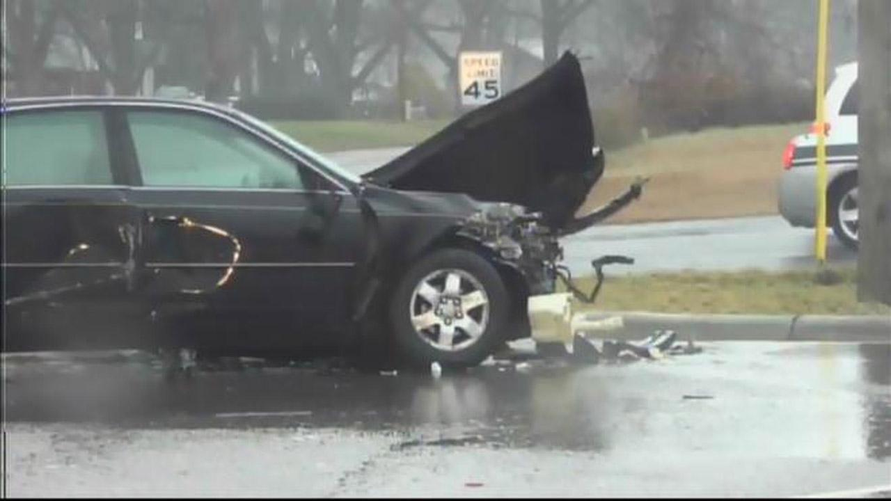 Tuesday afternoons rainy weather may have played a role in a school bus crash in southern Wake County.
