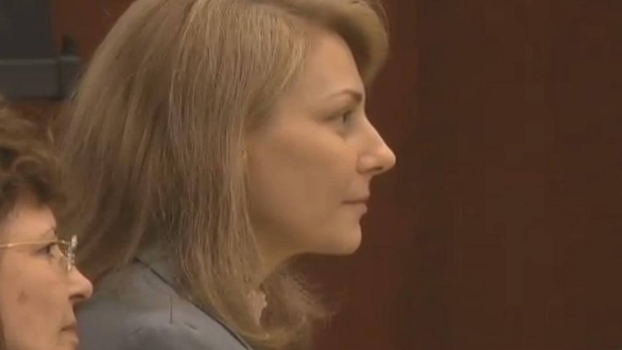 Amanda Hayes listens to closing arguments.