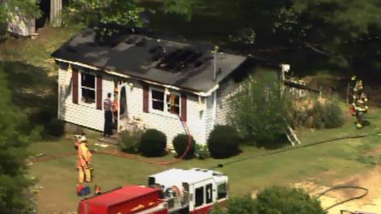 House fire on Piney Grove-Wilbon Road in Fuquay-Varina