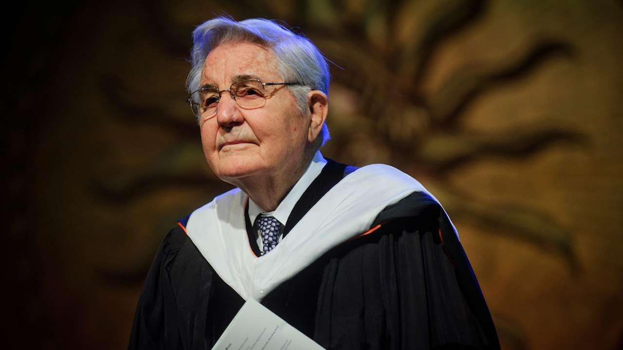 Photo of Dr. Bill Friday taken during the October 2011 inauguration of UNC President Tom Ross