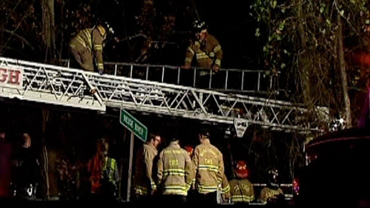 A police chase that started in eastern Wake County early Monday morning ended in Raleigh when the driver crashed at a bridge over the Neuse River.
