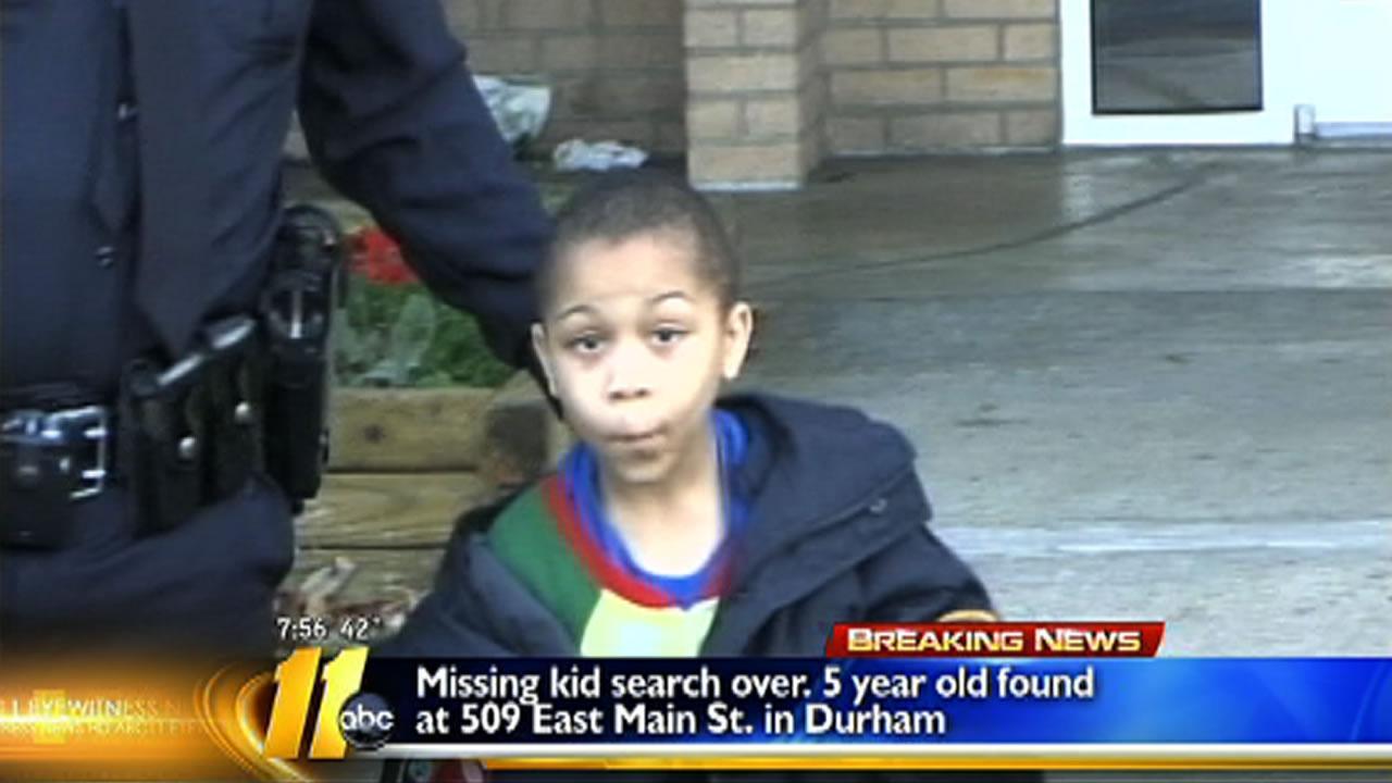 Missing Durham 5 year old found safe