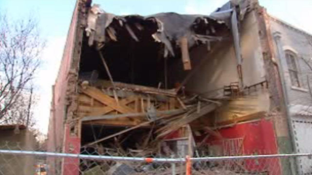 The owner has decided to demolish the front portion of the building that is more than 100 years old.