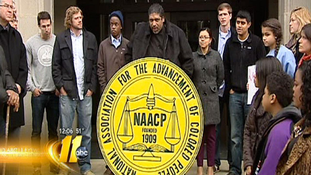NAACP calling for equal access for higher education during their annual No Room in the Inn event Christmas Eve
