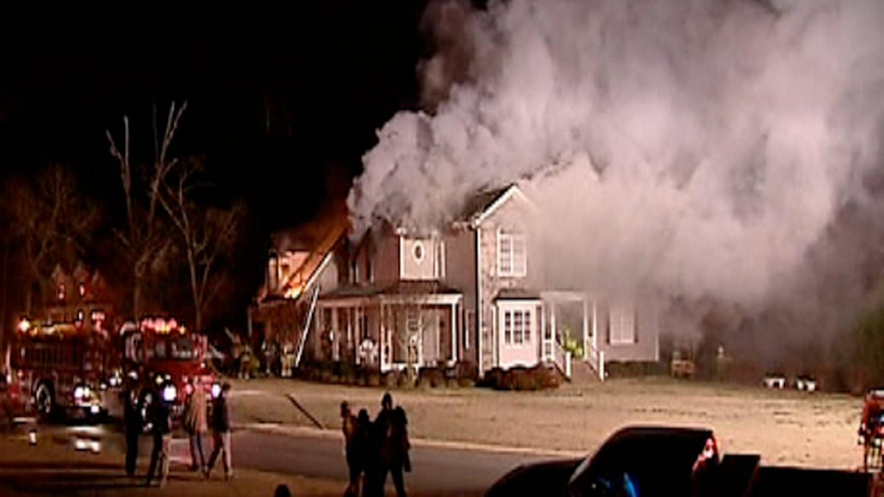 House fire  on Trekwood Drive in Garner early Tuesday morning.