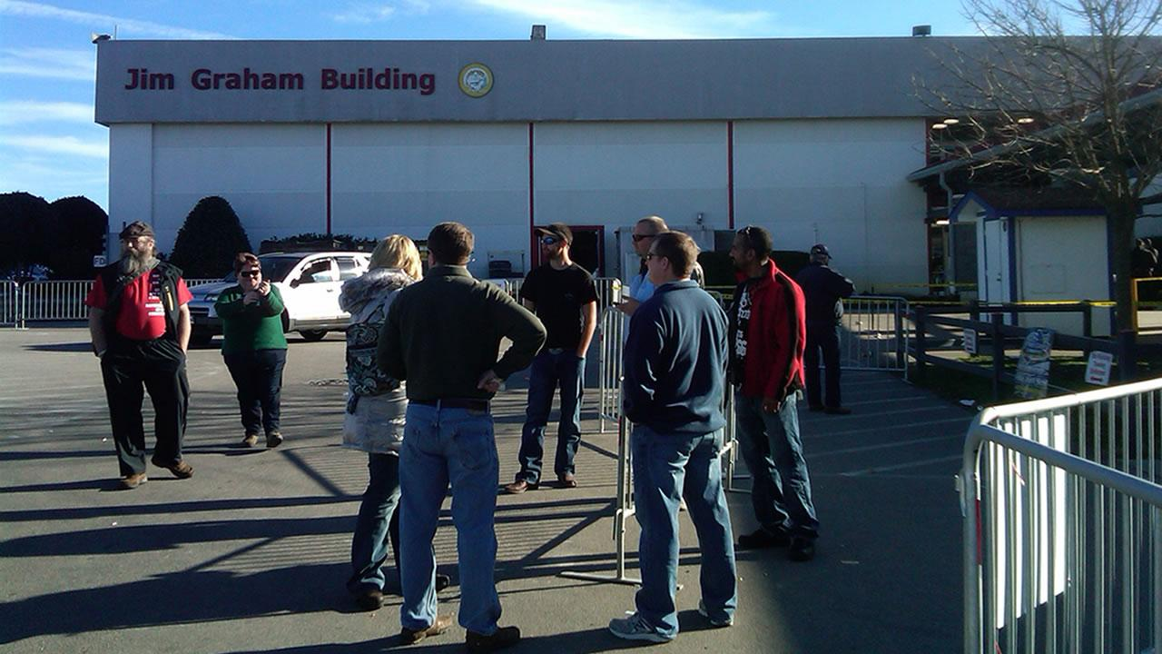 The Dixie Gun and Knife Show was shut down after a shooting Saturday.