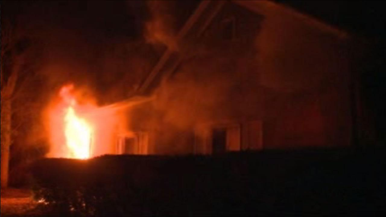 The fire started around 9 p.m. at a home on the 600 block of Primitive Street.