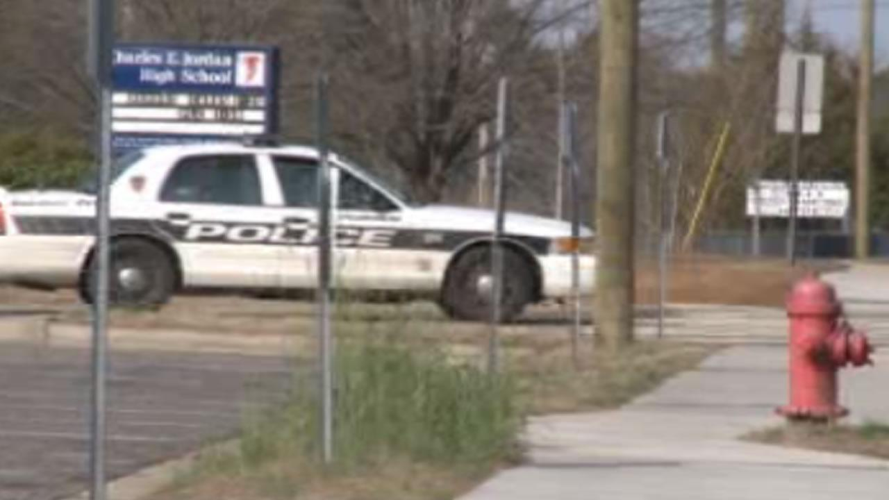 Police said the victim was found in the parking lot at Jordan High School with a stab wound
