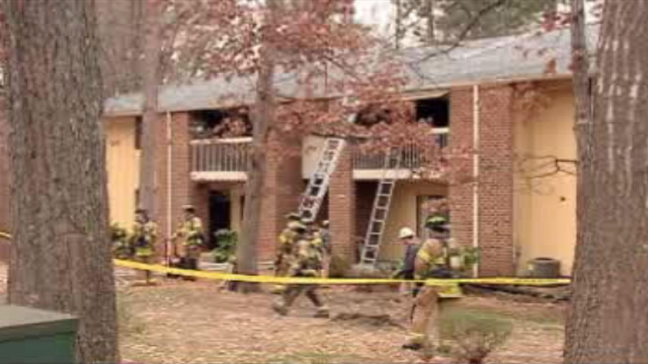 The fire started around 3:30 p.m. in the 1200 block of Schaub Drive at the Driftwood Apartments.
